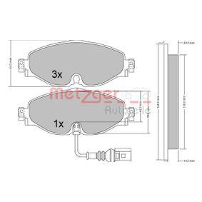 Kit de plaquettes de frein, frein à disque METZGER Art.No - 1170411 OEM: 5Q0698151B pour VOLKSWAGEN, AUDI, SEAT, SKODA récuperer