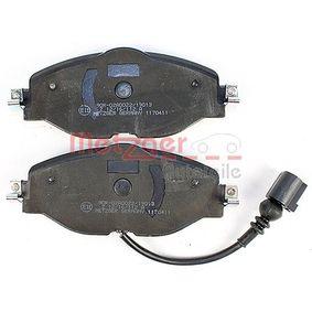 8V0698151D pour VOLKSWAGEN, AUDI, SEAT, SKODA, Kit de plaquettes de frein, frein à disque METZGER (1170411) Boutique en ligne