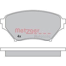 Bremsbelagsatz, Scheibenbremse METZGER Art.No - 1170480 OEM: N0Y93323Z für MAZDA, MERCURY kaufen