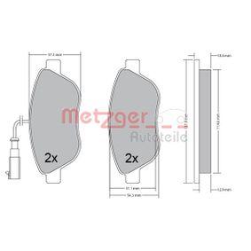 Bremsbelagsatz, Scheibenbremse METZGER Art.No - 1170504 OEM: 77365468 für FIAT, PEUGEOT, ALFA ROMEO, LANCIA, ABARTH kaufen