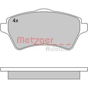 Bremsbelagsatz, Scheibenbremse METZGER Art.No - 1170612 OEM: 23615 für MERCEDES-BENZ, PEUGEOT, CITROЁN kaufen