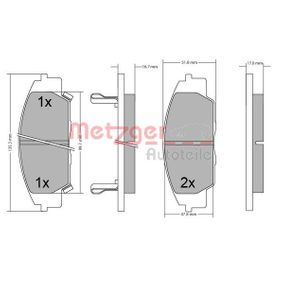 CIVIC VIII Hatchback (FN, FK) METZGER Brake pad set disc brake 1170649