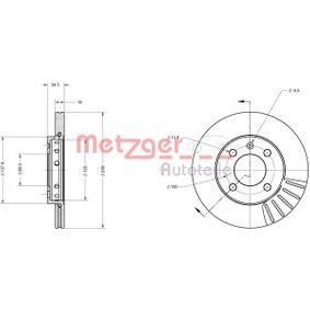 Bremsscheibe METZGER Art.No - 6110015 OEM: 6N0615301F für VW, AUDI, SKODA, SEAT kaufen