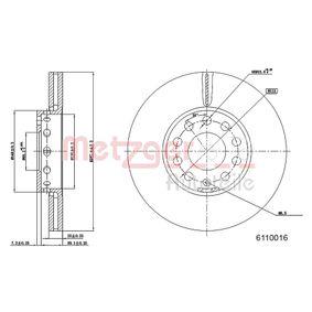 Bremsscheibe METZGER Art.No - 6110016 OEM: 4A0615301E für VW, AUDI, SKODA, SEAT, PORSCHE kaufen