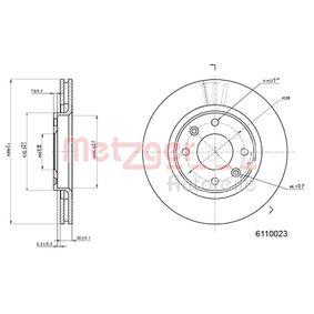 Bremsscheibe METZGER Art.No - 6110023 OEM: 4249G1 für PEUGEOT, CITROЁN, PIAGGIO, DS, TVR kaufen