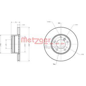 Bremsscheibe METZGER Art.No - 6110028 OEM: 34111164839 für BMW, MINI kaufen