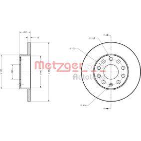 Bremsscheibe METZGER Art.No - 6110030 kaufen
