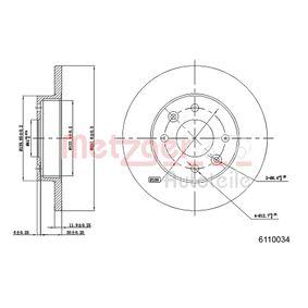 METZGER Bremsscheibe 6110034