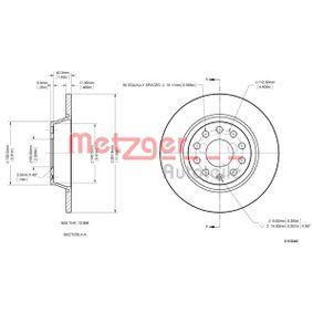 Bremsscheibe METZGER Art.No - 6110046 OEM: 1K0615601M für VW, AUDI, SKODA, SEAT, PORSCHE kaufen