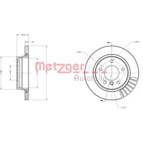 Bremsscheibe METZGER Art.No - 6110065 OEM: 34211162315 für BMW, MINI kaufen