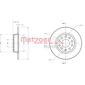 Bremsscheibe METZGER Art.No - 6110108 OEM: 1K0615601AA für VW, AUDI, SKODA, SEAT, PORSCHE kaufen