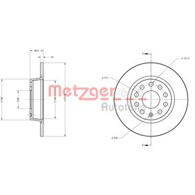 METZGER Bremsscheibe 6R0615601 für VW, AUDI, SKODA, SEAT bestellen