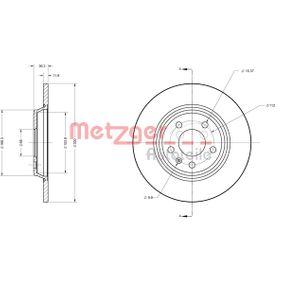 Bremsscheibe METZGER Art.No - 6110125 OEM: 8K0615601M für VW, AUDI, SKODA, SEAT kaufen