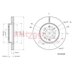 Спирачен диск METZGER Art.No - 6110128 OEM: 45251SK7A00 за HONDA, LAND ROVER, ROVER, MG, ACURA купете