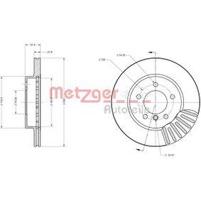 Bremsscheibe METZGER Art.No - 6110149 OEM: 34116766224 für BMW kaufen