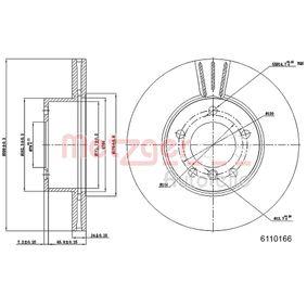 Bremsscheibe METZGER Art.No - 6110166 OEM: 34116854998 für BMW kaufen