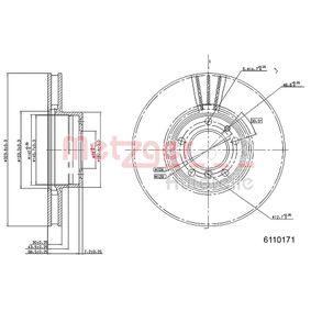 Bremsscheibe METZGER Art.No - 6110171 OEM: 34111165859 für BMW kaufen