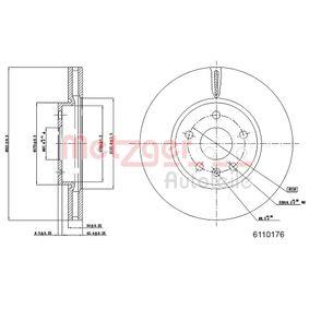 Bremsscheibe METZGER Art.No - 6110176 kaufen