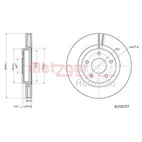 Bremsscheibe METZGER Art.No - 6110177 OEM: 40206JD00B für NISSAN, INFINITI kaufen