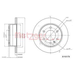 Bremsscheibe METZGER Art.No - 6110179 OEM: 9064230012 für VW, MERCEDES-BENZ, SMART, CHRYSLER, RENAULT TRUCKS kaufen