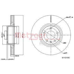 Bremsscheibe METZGER Art.No - 6110195 OEM: 4F0615301E für VW, AUDI, SKODA, SEAT kaufen