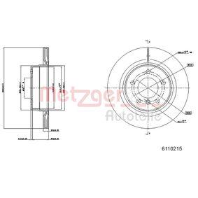 Bremsscheibe METZGER Art.No - 6110215 OEM: 34216792227 für BMW, MINI kaufen