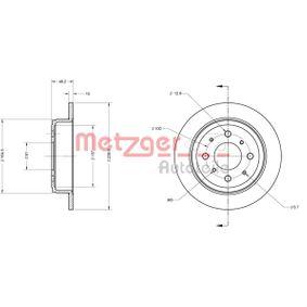 Спирачен диск METZGER Art.No - 6110244 OEM: GBD90817 за HONDA, SKODA, LAND ROVER, ROVER, MG купете