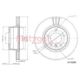 Bremsscheibe METZGER Art.No - 6110260 OEM: 34116764021 für BMW kaufen