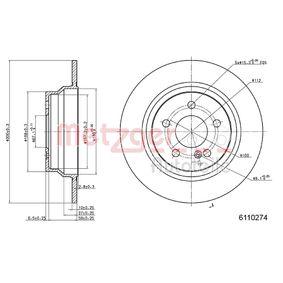 Bremsscheibe METZGER Art.No - 6110274 OEM: A2114230712 für MERCEDES-BENZ kaufen