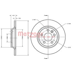 METZGER Bremsscheibe 7D0615601A für VW, AUDI, SKODA, SEAT, PORSCHE bestellen
