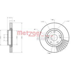 Bremsscheibe METZGER Art.No - 6110276 OEM: 43512YZZAA für TOYOTA kaufen