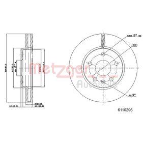 Bremsscheibe METZGER Art.No - 6110296 kaufen