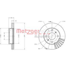 Bremsscheibe METZGER Art.No - 6110312 OEM: 4020671E06 für NISSAN, INFINITI kaufen