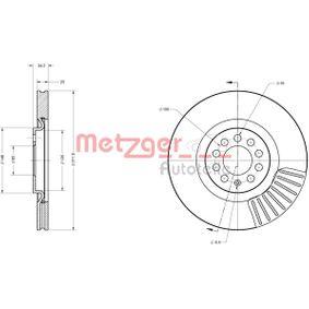 Bremsscheibe METZGER Art.No - 6110387 OEM: 6R0615301B für VW, AUDI, SKODA, SEAT, ALFA ROMEO kaufen
