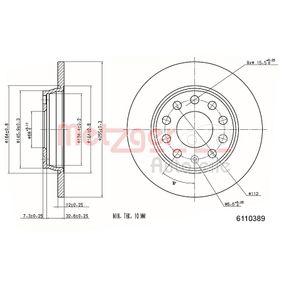 METZGER Bremsscheibe 6110389 für AUDI A4 3.0 quattro 220 PS kaufen