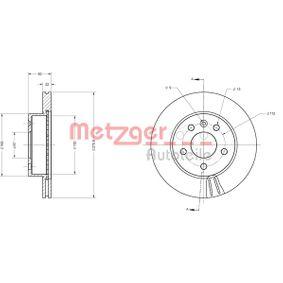 Bremsscheibe METZGER Art.No - 6110407 OEM: A6384210112 für MERCEDES-BENZ kaufen