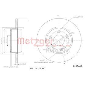 Bremsscheibe METZGER Art.No - 6110445 kaufen