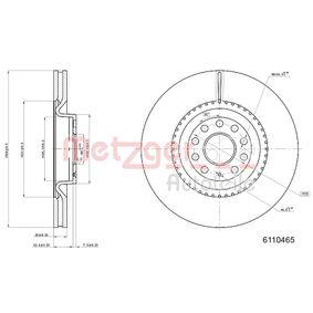 Спирачен диск METZGER Art.No - 6110465 OEM: 1K0615301AB за VW, AUDI, SKODA, SEAT купете