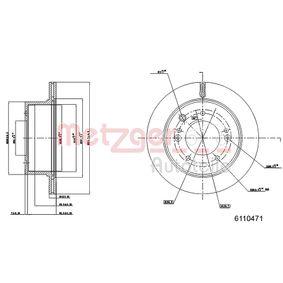 Bremsscheibe METZGER Art.No - 6110471 kaufen