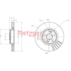 METZGER Bremsscheibe 7701206614 für RENAULT, NISSAN, DACIA, RENAULT TRUCKS bestellen