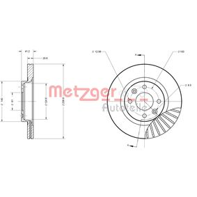 METZGER Bremsscheibe 7701204828 für RENAULT, NISSAN, DACIA, DAEWOO, SANTANA bestellen