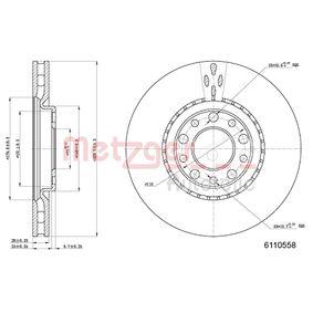 Bremsscheibe METZGER Art.No - 6110558 OEM: 51760621 für MERCEDES-BENZ, FIAT, ALFA ROMEO kaufen