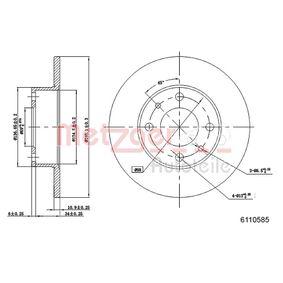 METZGER Brazo del limpiaparabrisas/ Soporte 6110585 para FIAT PUNTO 1.4 GT Turbo 133 CV comprar