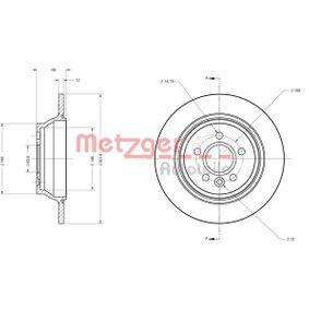 Bremsscheibe METZGER Art.No - 6110615 kaufen