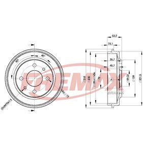 Bremstrommel FREMAX Art.No - BD-9680 OEM: 4373614 für FIAT, ALFA ROMEO, LANCIA, LADA, ZASTAVA kaufen