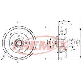 Bremstrommel BD-1512 FREMAX