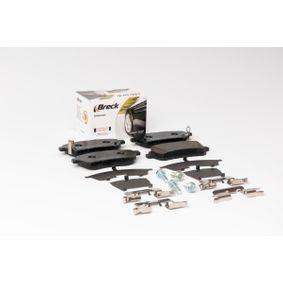 BRECK Bremsbelagsatz, Scheibenbremse 3C0698451F für VW, AUDI, SKODA, SEAT, PORSCHE bestellen
