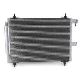 RIDEX Kondensator, Klimaanlage 6455Y9 für FIAT, PEUGEOT, CITROЁN, VOLVO, PIAGGIO bestellen