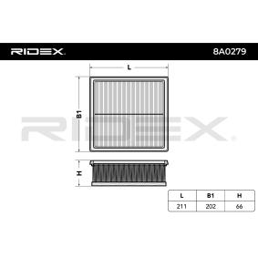 RIDEX Luftfilter (8A0279) niedriger Preis