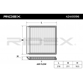 RIDEX Filtro de aire acondicionado 424I0096